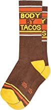 product image for BODY BY TACOS Socks by Gumball Poodle: Make A Statement, Unisex Gym Sock: Brown, Yellow and Orange