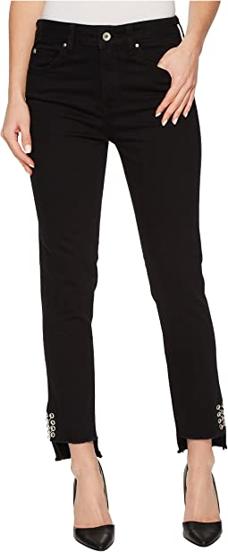 Mavi Jeans - Tess High-Rise Ankle Super Skinny in Black Piercing Gold