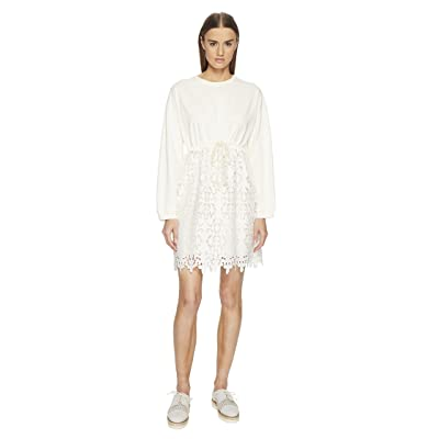 See by Chloe Lace Bottom Dress (Snow White) Women