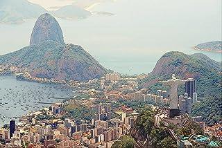 OKWallArt DIY 5D diamantmålning hantverkskit full borr diamantbroderi välkomnar allt till soliga staden Rio De Janeiro hem...