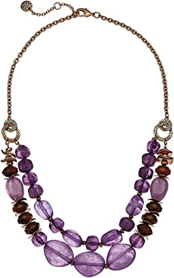 """Double Row Beaded Necklace 18"""""""