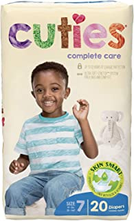 Cuties Complete Care Baby Diaper, Size 7, 41+ lbs, CCC07 - Case of 80