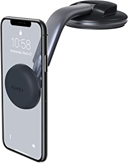 AUKEY Car Phone Mount Dashboard Magnetic Cell Phone Holder for Car 360 Degree Rotation Compatible with iPhone 11 Pro Max / 11 / XS Max/XS / 8/7 and More