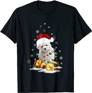 Maltipoo Christmas Dog Light T-Shirt