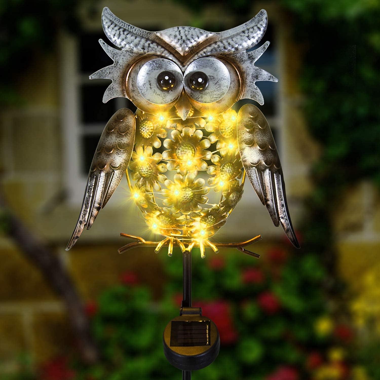 Solar Owl Decor Cheap bargain Sale price Outdoor Decoratio Lights Garden Metal