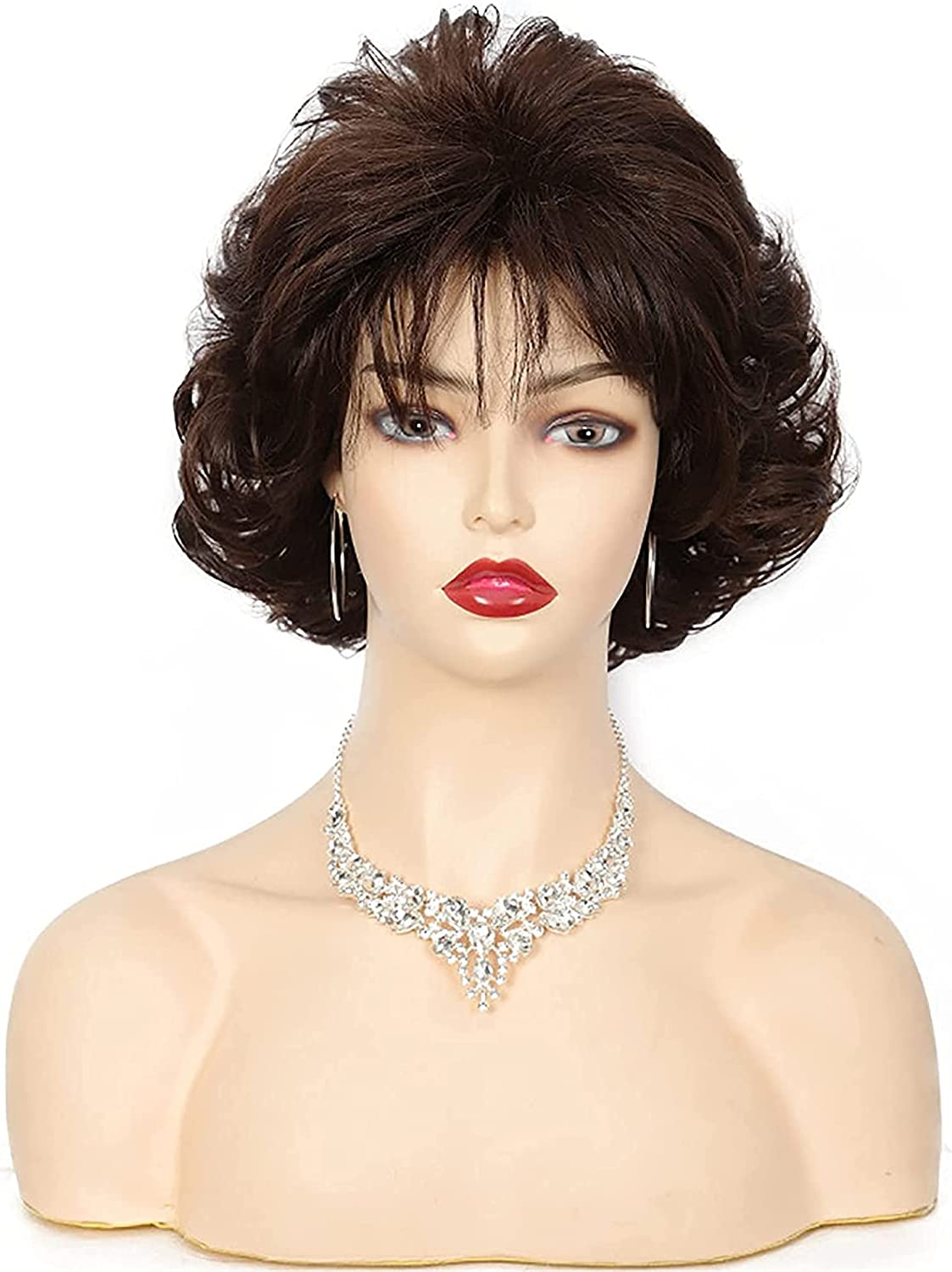 LCNING Wig Wigs 10 Inch Fashion Bombing new work Curly Special Short Elderly Direct sale of manufacturer