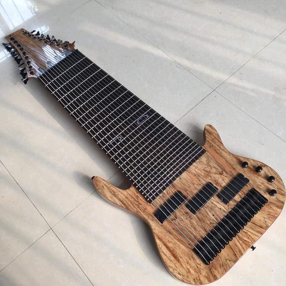 LYNLYN Guitarras, selección de Guitarra 17 Cuerdas Graves De La Guitarra Eléctrica De Palisandro Trastes Ninguna Oferta Modificada For Embutido Sintonizador de Guitarra, Herramientas de Guitarra