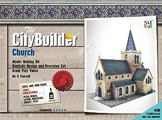 O Gauge 1:48 Scale Church Cardboard Model Making Kit The CityBuilder Model Railroad Building