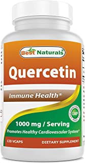 Best Naturals Quercetin 1000 mg/Serving Veggie Capsules - Immune Health - 120 Count