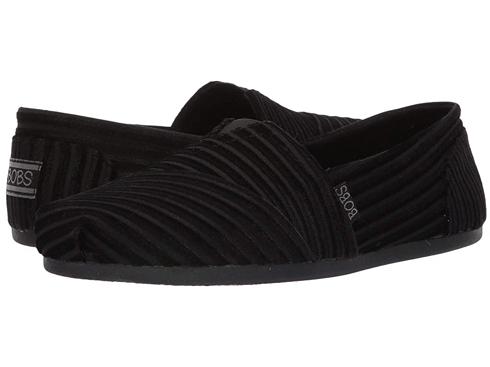 BOBS from SKECHERS Bobs Plush Fall Delight (Black/Black) Women