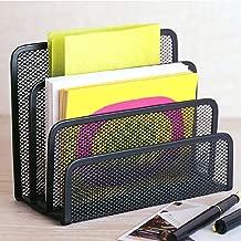 Desk Mail Organizer wishacc Small File Holders Letter Organizer Metal Mesh Document/Filing/Folders/Paper Organizer for Desktop