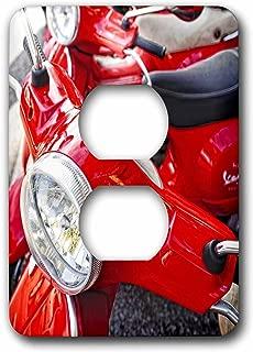 3dRose LLC lsp_82173_6 Italy, Tuscany, Radda Vespa Scooter Eu16 Rdu0243 Richard Duval 2 Plug Outlet Cover