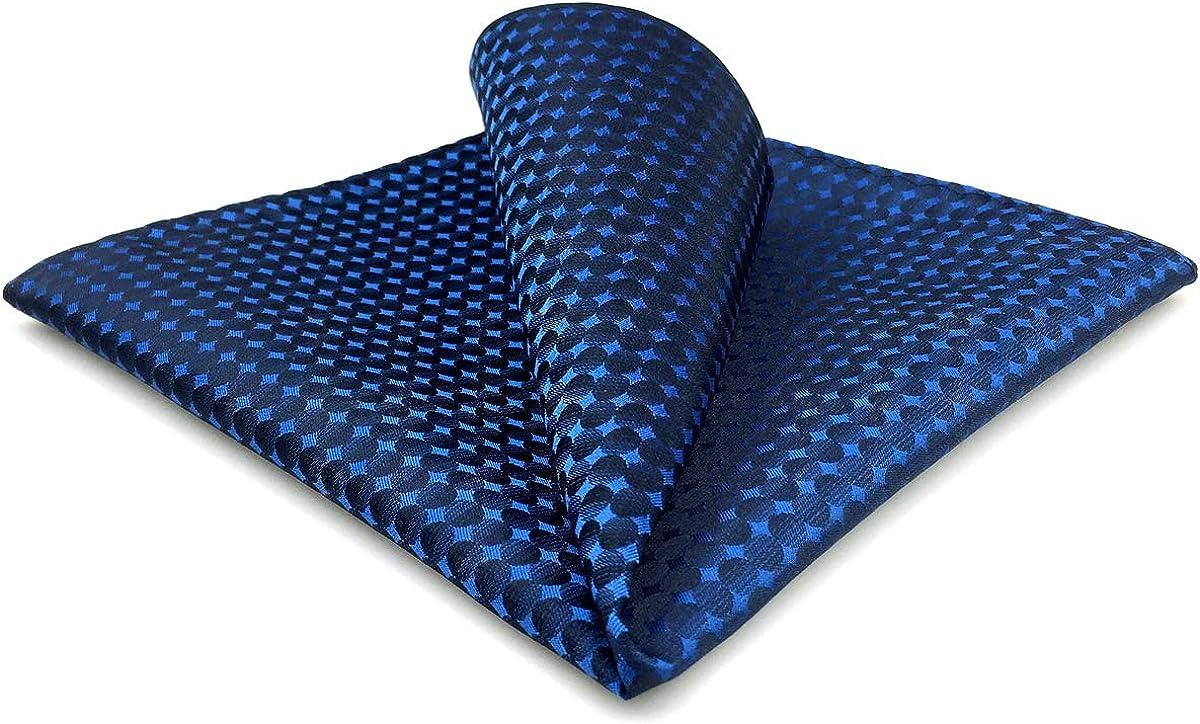 S&W SHLAX&WING Solid Blue Men's Pocket Square Classic Slik