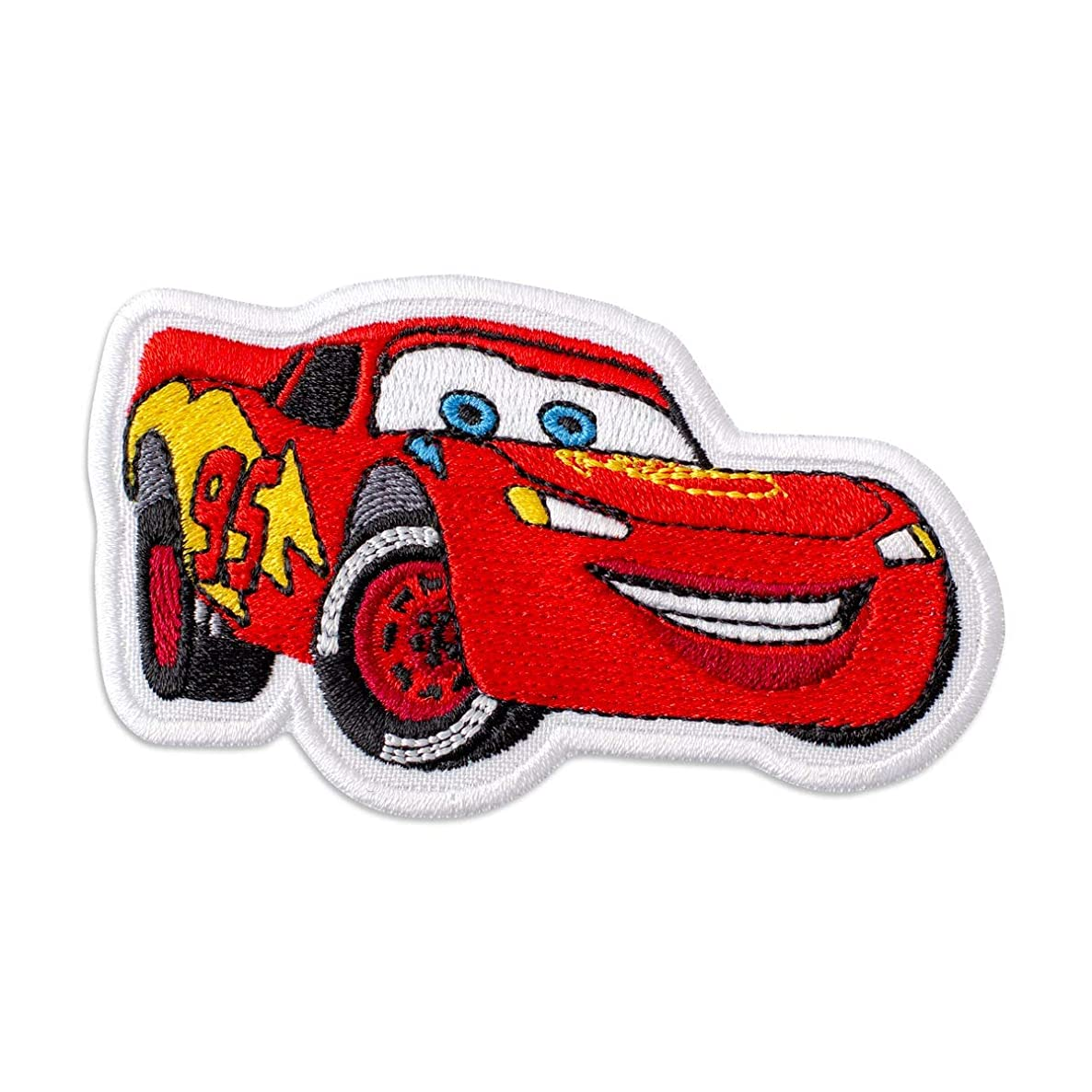 Cars Lightning McQueen Embroidered Patch Iron On (3.9