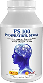 Andrew Lessman PS 100 Phosphatidyl Serine 60 Capsules – Supports Mental Clarity, Positive Mood, Memory, Cognitive Function...