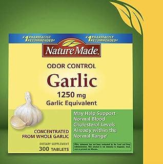 Nature Made Odor Control Garlic, 1250mg, 300 Tabs