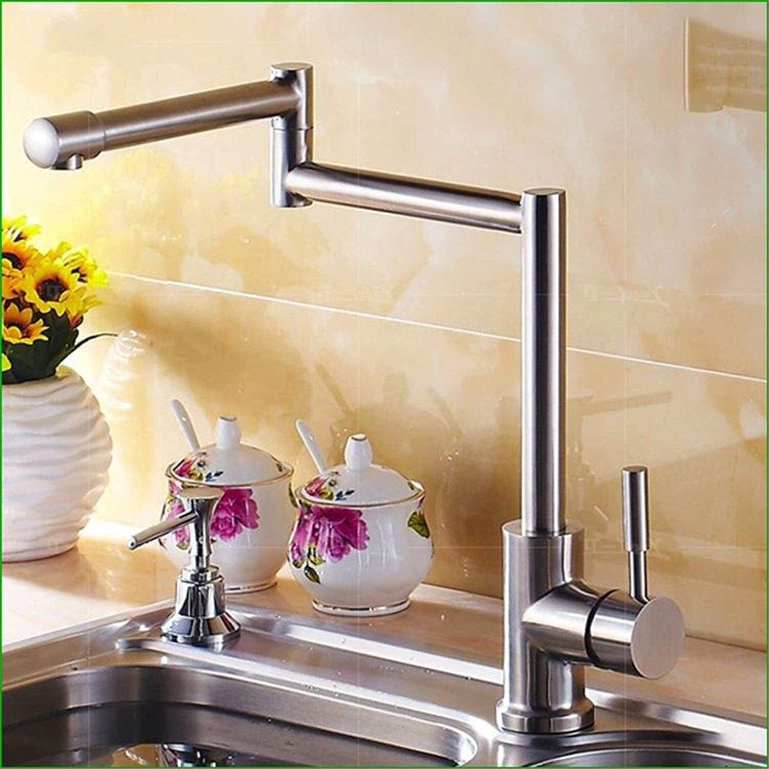 Bijjaladeva Antique Bathroom Sink Vessel Faucet Basin Mixer Tap 304 stainless steel water faucet kitchen faucet fold dish basin brushed Faucet