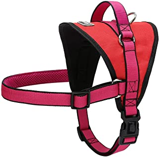 Nylon Dog Harness for Medium Large Pet No Pull Soft Dogs Harness Vest with Quick Fit Handle for K9 Labrador Walking Training