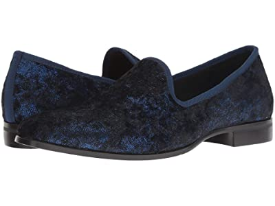 Stacy Adams Sultan Velour Loafer (Navy) Men