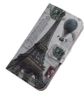 TienJueShi Eiffel Tower Fashion Stand TPU Silicone Book Stand Flip PU Leather Protector Phone Case For Infinix S5 Pro 6.53...