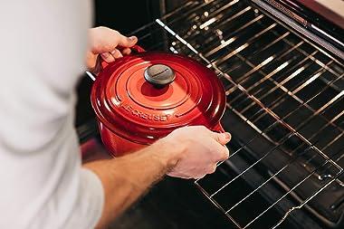 Le Creuset Enameled Cast Iron Signature Round Dutch Oven, 5.5 qt., Cerise