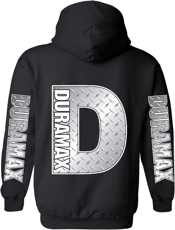 Duramax Silver Metal Chrome Pocket Cheap SALE Start Design Hoodie Black Hoo Jacksonville Mall Color