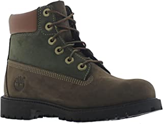 "Timberland 6"" Waterproof Boots Unisex Juniors (6.5, Brown/Green)"