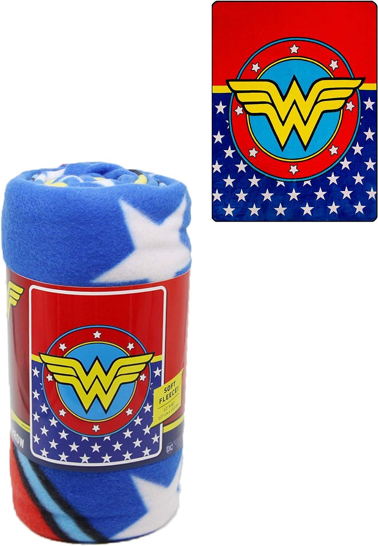 Mail order Selling JPI Fleece Throw Blanket - Woman Lightweight Faux Wonder Logo