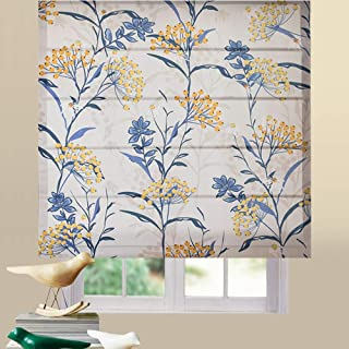 Artdix Roman Shades Blinds Window Shades - Loquat 22 W x 36L Inches (1 Piece) Blackout Fabric Custom Made Roman Shades for Windows, Doors, Home, Kitchen, Living Room