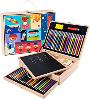 Art Set for Kids,Stencils and Drawing Art Set for Kids | Colouring Set Arts and Crafts Educational Activity Kit for Childr...