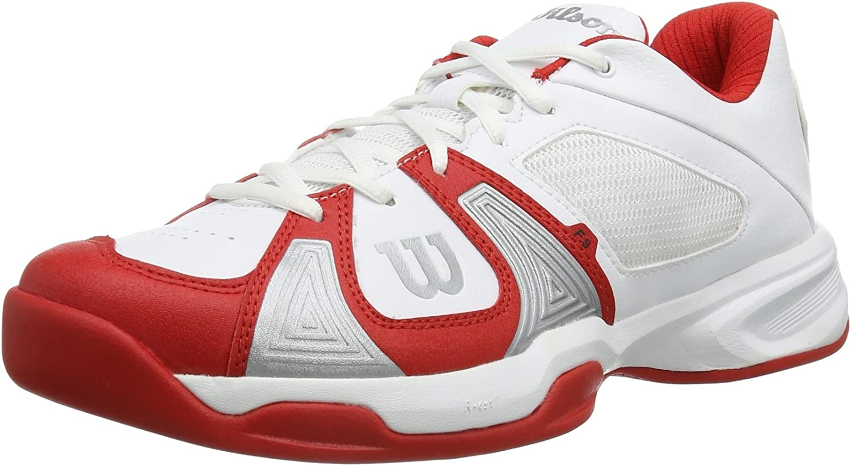 Wilson Men's Rush Open White White RED Tennis shoes