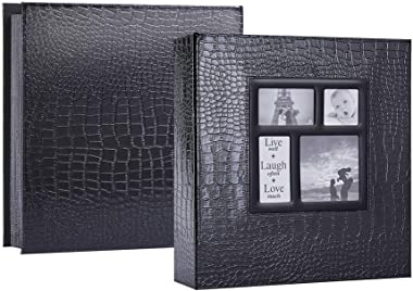 Ywlake Photo Album 4x6 1000 Pockets Photos Croco, Extra Large Capacity Family Wedding Picture Albums Holds 1000 Horizontal an