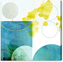 Lauren by Oliver Gal | Contemporary Premium Canvas Art Print. The Abstract Wall Art Decor Collection. 50x50 inch, Blue