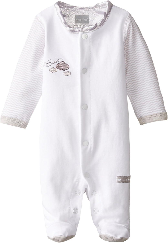 Kushies Unisex-Baby Newborn Front Snap Sleeper White Solid