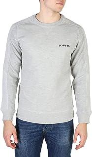 Diesel S-Tina Felpa Grey Marl Crew Neck Sweatshirt