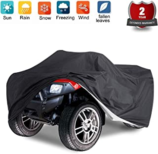 Nomiou Waterproof ATV Cover with Storage Bag Heavy Duty Black Protects 4 Wheeler From Snow Rain Dust and Sun,88 x 39 x 42 inch
