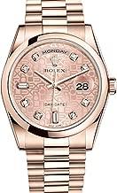 Rolex Day-Date President 36mm Everose Gold Watch 118205 Pink Jubilee Diamond Dial