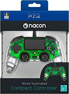 Nacon Wired Illuminated Compact Controller for PlayStation 4, Green