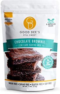Sponsored Ad - Good Dee's Chocolate Brownie Mix - Low Carb Keto Baking Mix (1g Net Carbs, 12 Servings) | Sugar-Free, Glute...