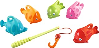 HABA Angler Set with Squirter Fish - Fishing Rod and 5 Colorful Fish for Bathtub or Kiddie Pool