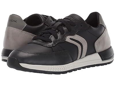 Geox Kids Jr Alben 8 (Little Kid/Big Kid) (Black/Green) Boys Shoes