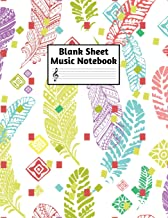 Blank Sheet Music Notebook: Easy Blank Staff Manuscript Book Large 8.5 X 11 Inches Musician Paper Wide 12 Staves Per Page for Piano, Flute, Violin, ... other Musical Instruments - Code : A4 8379