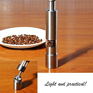 Mills - Stainless Steel Electric Salt Pepper Mill Spice Grinder Muller Portable Thumb Push Manual - Frozen Flour Peppercorn Pepper Knife Manual Meat Electric Spice Salt Mill Coffee Gonzo Grinder