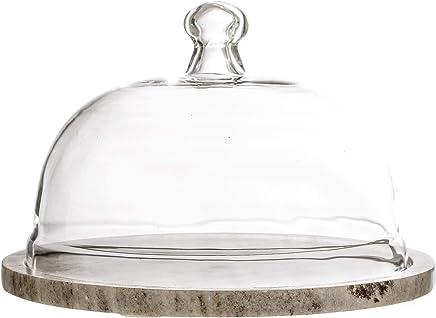 Preisvergleich für Bloomingville Marmor Käseplatte mit Glasglocke