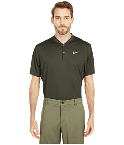 Nike Golf Dri-FITtm Victory Blade Polo (Sequoia/White) Men