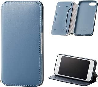 エレコム iPhone 8 / iPhone 7 ケース NEUTS ソフトレザー モダン×カジュアル [心地よいスタンダード] マグネット付き スタンド機能 ブルー PM-A17MPLFY2BU