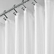 Amazon Com Fabric Shower Curtain Buttonhole