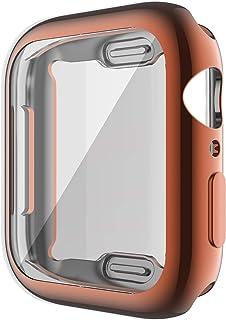 ZAALFC Caso de Cubierta de Reloj para Apple Watch Series 6 5 4 3 2 1 Caso 42mm 38m 40 mm 44mm Slim Soft TPU Caso Protector...