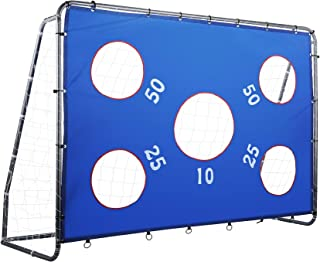 Pinty 2 in 1 Soccer Goal for Kids 8 x 6 ft, Powder Coated...