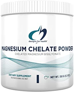 Designs for Health Magnesium Chelate Powder - 300mg Powdered Chelated Magnesium Bisglycinate Supplement - Non-GMO Great-Ta...